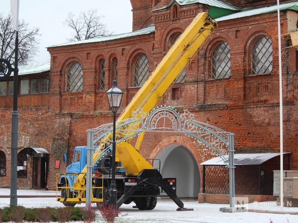 Нижегородский кремль начали украшать к Новому году - фото 1
