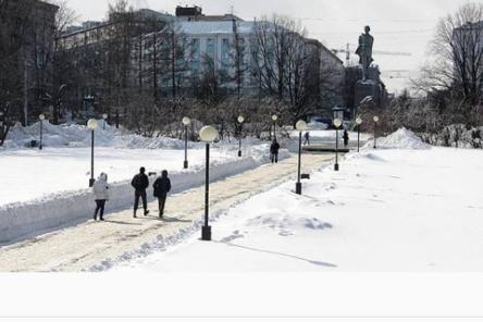 Сквер на площади Горького закроют на время благоустройства в конце марта
