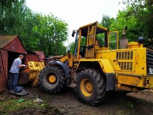 Незаконные гаражи снесли в Сормове ради строительства развязки на Циолковского