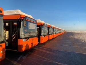 В Нижний Новгород доставлено 50 новых автобусов на газомоторном топливе
