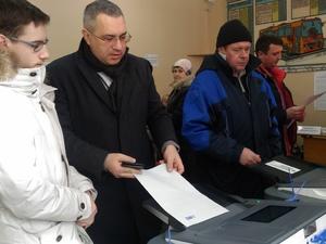 Председатель гордумы Нижнего Новгорода Дмитрий Барыкин проголосовал на выборах Президента РФ