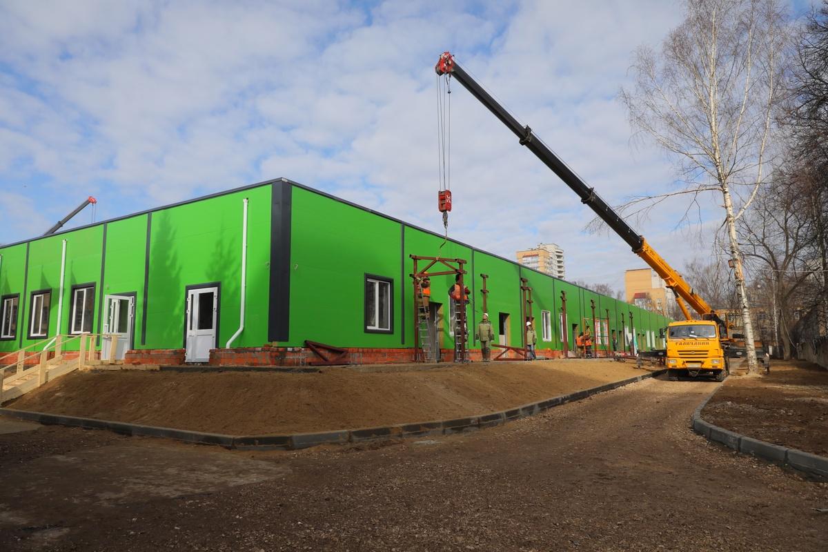 Строительство инфекционного госпиталя завершается в Нижнем Новгороде - фото 1