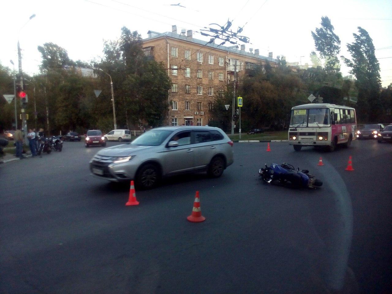 Мотоциклист умер вДТП вКстовском районе Нижегородской области 17сентября