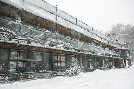Благоустройство парка «Швейцария» продолжается, несмотря на морозы