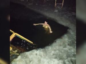 Нижегородцы проводили последнее полнолуние этого года медитацией и купанием в проруби