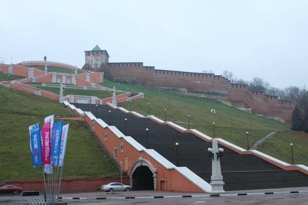 Чкаловская лестница станет терракотово-серой к 800-летию Нижнего Новгорода