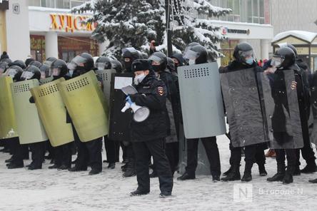 ОМОН встал на пути протестующих в Нижнем Новгороде
