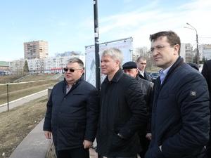 Министр спорта РФ осмотрел проект ледового дворца в Нижнем Новгороде