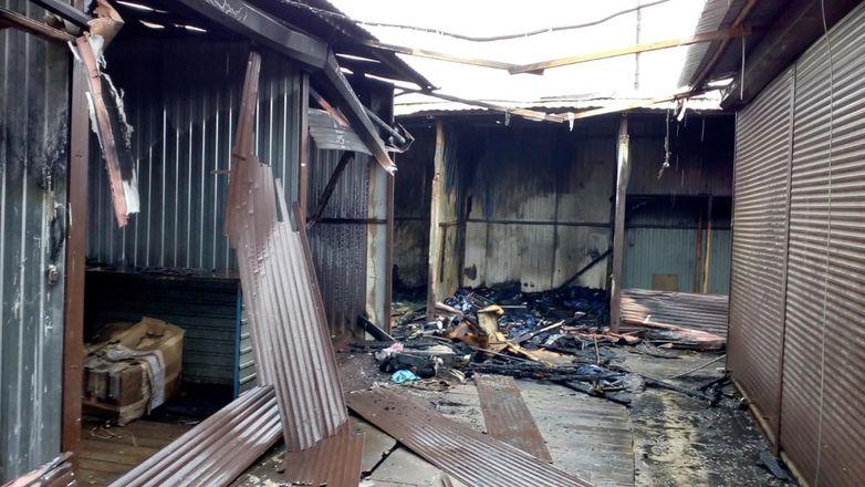ГУ МЧС по региону показало, как выглядит Канавинский рынок после пожара - фото 5