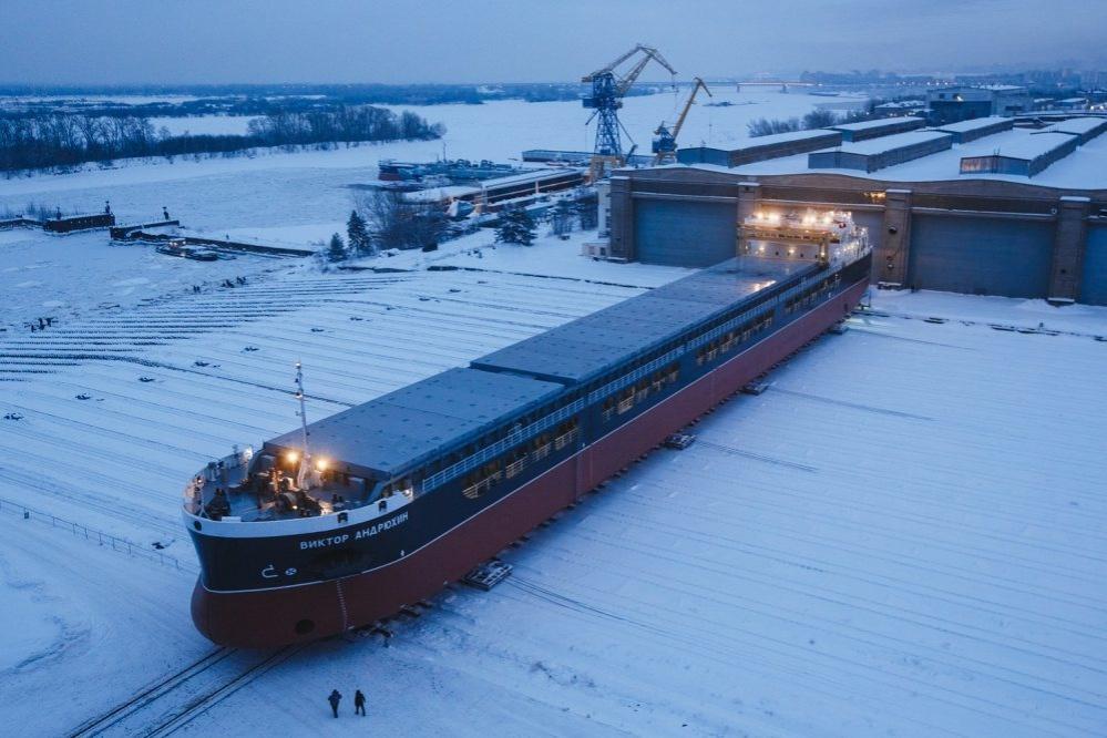 Сухогруз «Виктор Андрюхин» спустили на воду на «Красном Сормове» - фото 1