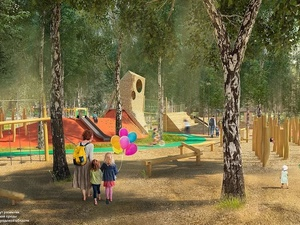 Световые инсталляции и площадка для йоги появятся в парке имени Пушкина
