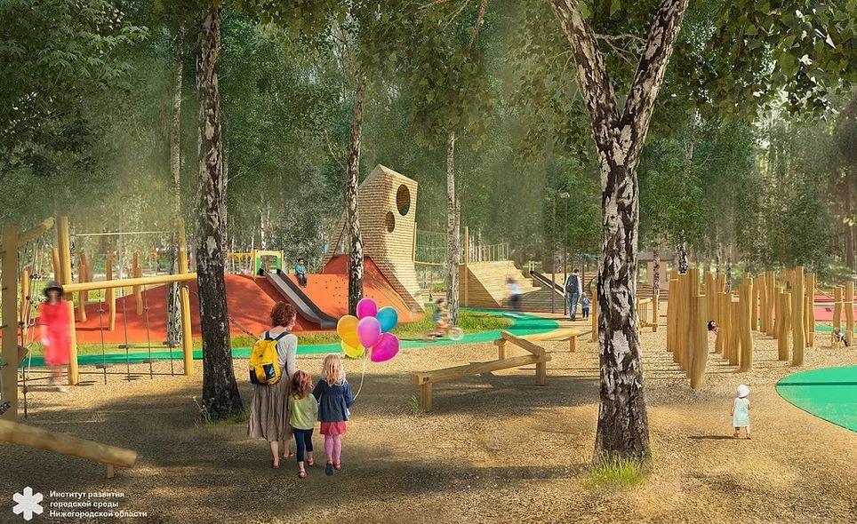 Световые инсталляции и площадка для йоги появятся в парке имени Пушкина - фото 1