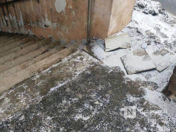 Нижегородцы пожаловались на неудовлетворительное состояние входов в подземный переход на проспекте Гагарина - фото 3
