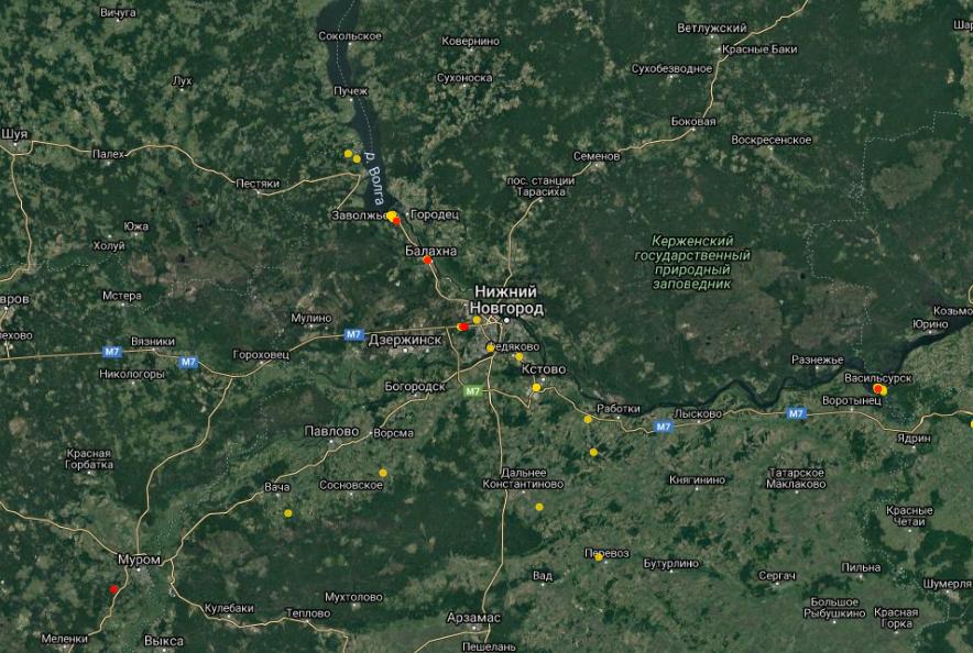 Места произрастания борщевика в Нижегородской области нанесены на специальную карту - фото 2