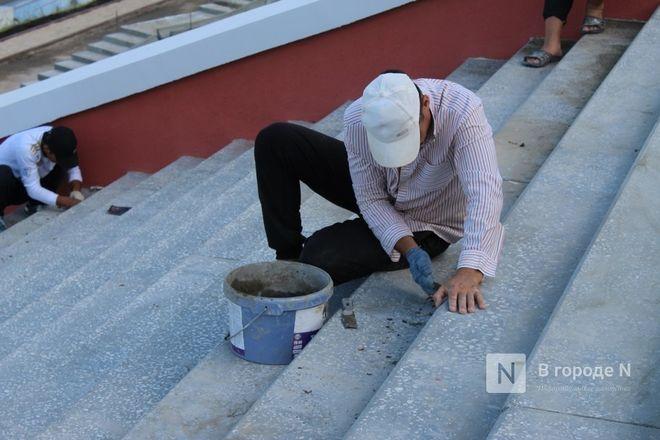 Чкаловскую лестницу открыли, несмотря на продолжающиеся ремонтные работы - фото 14