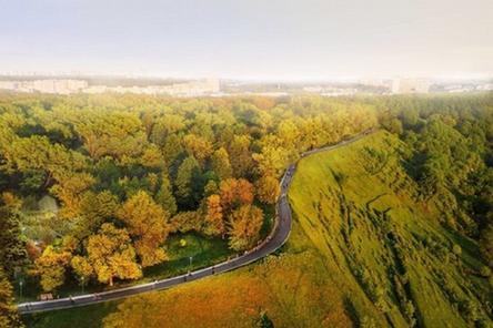 40-метровую скамью начали монтировать в нижегородском парке «Швейцария»
