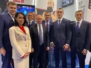 Тина Канделаки поблагодарила Глеба Никитина за проведение форума «Россия — спортивная держава»