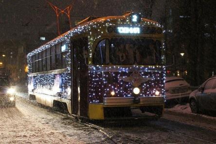 Стал известен график работы новогодних трамваев в Нижнем Новгороде