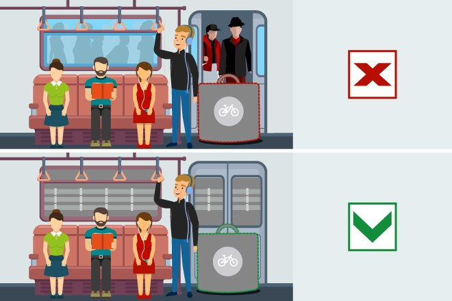 В вагон на колесах: можно ли провозить велосипед в метро?  - фото 5